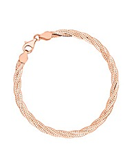 Simply Silver Rose Gold Twisted Bracelet