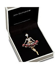 Jon Richard Peardrop Dancer Brooch
