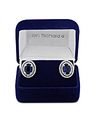 Jon Richard Blue Cubic Zirconia Earring
