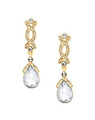 Jon Richard Crystal Crossover Earring