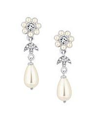 Alan Hannah Pearl Floral Drop Earring