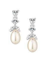 Alan Hannah Cubic Zirconia Pearl Earring