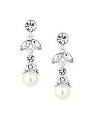 Jon Richard Crystal Pearl Drop Earring