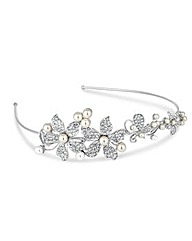 Jon Richard Pearl Flower Headband