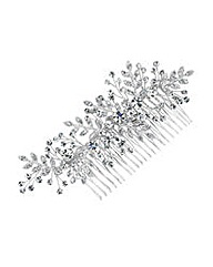 Jon Richard Mini Crystal Leaf Hair Comb