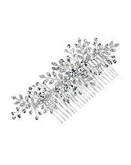 Jon Richard Mini Crystal Leaf Hair Comb