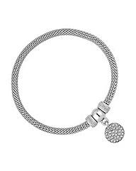Jon Richard Crystal Disc Charm Bracelet
