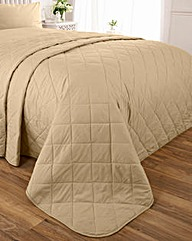 Easy-Care Plain-Dyed Quilted Throwover