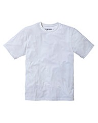 Jacamo White Basic Crew T-Shirt Long