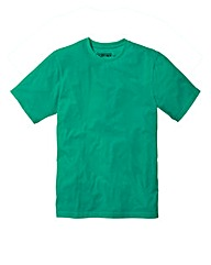 Jacamo Green Basic Crew T-Shirt Reg