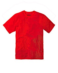 Jacamo Red Basic Crew T-Shirt Reg