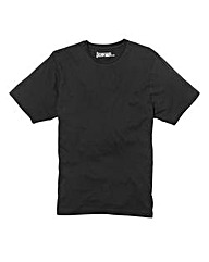 Jacamo Black Dallas Basic Crew Tee Long
