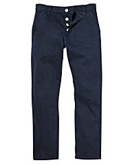 Jacamo Stretch Navy Chinos 33 Inch