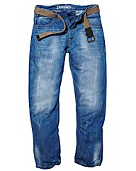 UNION BLUES Jeans With Webbed Belt XL