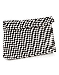 Slouch Houndstooth Clutch Bag