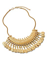 Gold Coin Statement Necklace