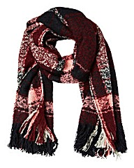 Boucle Check Oversized Scarf