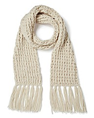 Cream Chunky Knit Scarf