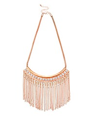Lipsy Coloured Chain Tassel Collar