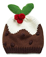 Christmas Pudding Bobble Hat