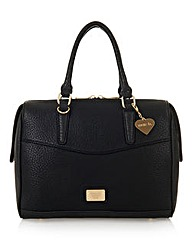 Marc B Ashley Black Snake Tote Bag