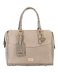 Marc B Ashley Nude Snake Tote Bag