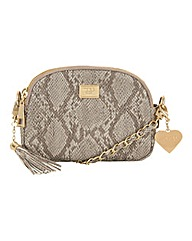 Marc B Metro Nude Snake Across Body Bag