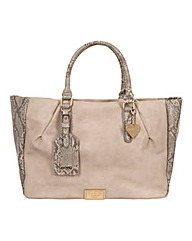 Marc B Megan Nude Snake Tote Bag