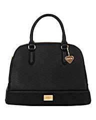 Marc B Lulu Black Structured Tote Bag