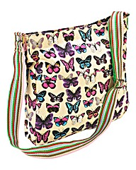 Butterfly Print Shoulder Bag