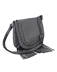 Black Fringe Shoulder Back