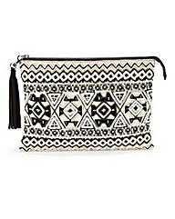 Monochrome Embellished Clutch Bag