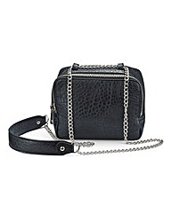 Black Bubble PU Chain Shoulder Bag