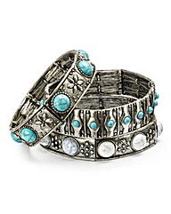 Turquoise Stone Bangle Pack
