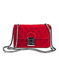 Red Velvet Shoulder Bag