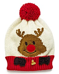 Christmas Rudolf Bobble Hat