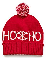 Christmas Ho Ho Ho Bobble Hat
