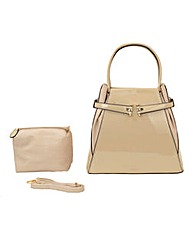 Malissa J Patent Clasp Front Day Bag