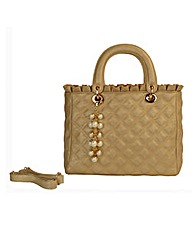 Malissa J Large Quilted Frill Day Bag