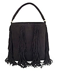 Premium Suede Fringe Tote Bag