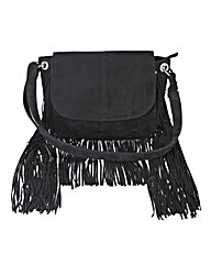 Suede Long Fringing Cross Body Bag