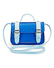Colour-Block Satchel Bag