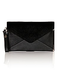 Little Mistress Black Clutch Bag