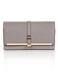 Little Mistress Grey Clutch Bag