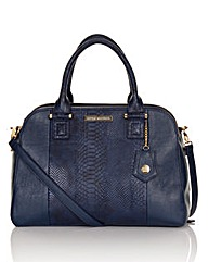 Little Mistress Navy Snake Tote Bag