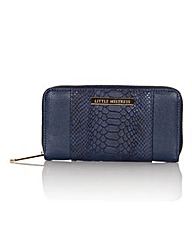 Little Mistress Large Navy Snake Purse