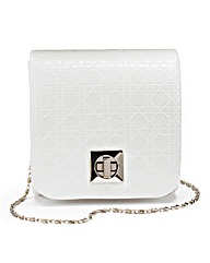 White Mini Structured Shoulder Bag