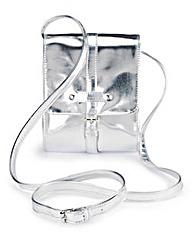 Mini Metallic Satchel Bag