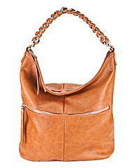 Tan Slouch Hobo Shoulder Bag
