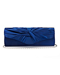 Navy Satin Roll Top Occasion Bag